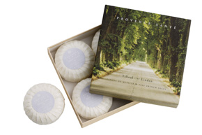 Giftbox 4 soaps of 75g ( 2.7 oz) Linden
