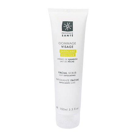 Facial scrub soft exfoliating